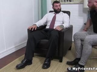 Foot/toes/his buff worshiped having cums