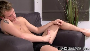 Fine UK amateur TJ solo time and wild nutting for his dick