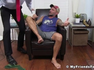 Sucking/his handsome having while relaxes