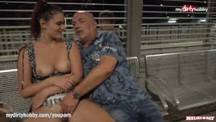 MyDirtyHobby – Step dad fucks daughter at a public train station while people watch