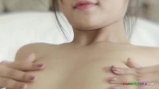 GOGO BAR AUDITIONS XXX  Adorable Thai amateur has her tight pussy stuffed