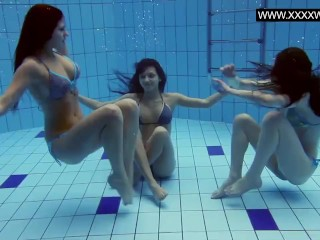 Swimming/fetish/bitches hot in the pool