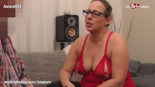 MyDirtyHobby - Horny MILF with glasses fucks her new boyfriend