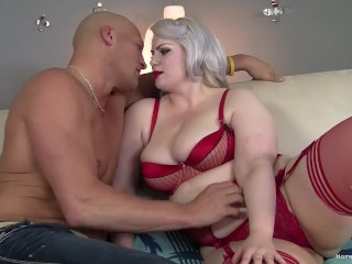 Big booty blonde plumper gets fucked by a big dick