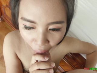 Picked up and pounded a perfect attractive shy Thai bar whore
