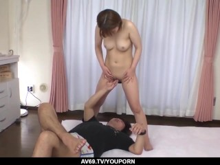 Mind blowing anal sex with two men for Kaho Kitayama - More at 69avs.com