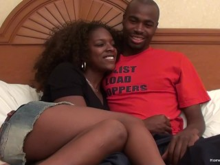 Amateur black couple fuck on camera for the first time