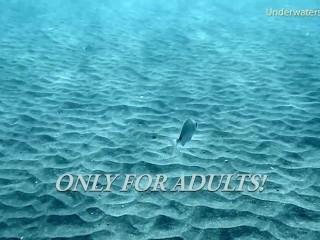 Tenerife babe swim naked underwater