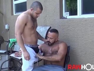 RAWHOLE Mario Cruz Eats Daddys Ass Before Fucking Him Raw