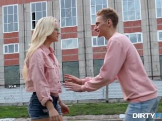 Dirty Flix - Nikki Hill - Nerdy coed fucks like a slut