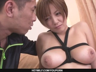 Busty MILF Meguru Kosaka Gets Her Shaved Pussy Creampied - More at Japanesemamas.com