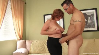 Big boob redhead milf cheats with her younger neighbor
