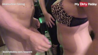 MyDirtyHobby – Stud has unexpected threesome at a public bar