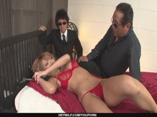 Busty Sumire Matsu Gets A Creampie After Group Sex - More at Japanesemamas.com