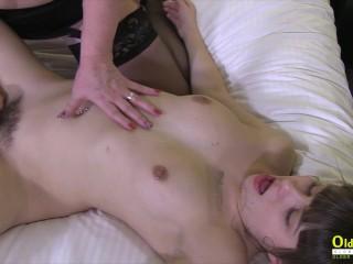 OldNannY Busty British Lesbian Lacey Starr