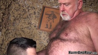 HAIRYANDRAW Lanz Adams Fucked Hard After Blowing Old Man