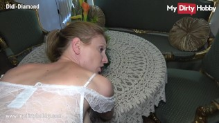 MyDirtyHobby – Housemaid swallows a cumshot from her boss while his wife is away
