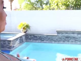 PORNSTARPLATINUM Alura Jenson Creampied by Handsome Poolboy