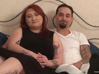 Chubby redhead amateur gets pounded by her boyfriend