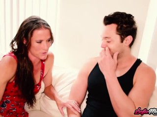 MILF Sofie Marie Caught Masturbating and Fucked After Oral