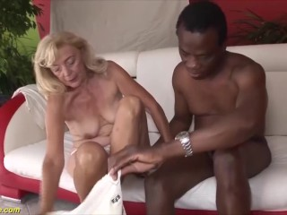 82 years old mom first interracial