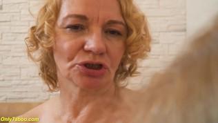wild lesbian granny yoga