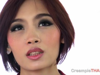 Picked up a Thai girl from a dating app and fucked her