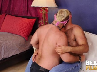 Hairy Bear Cock Sucked Before Banging