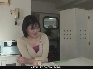 Sexy and naughty MILF pervert Nobue Kashima toying and banged hard - More at Japanesemamas.com