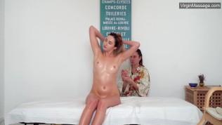 Virgin massage for Dora Matrasova until she cums