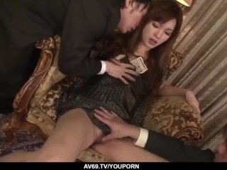 Mei Haruka loves office porn with two horny men - More at 69avs.com