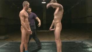 Nude jock strap sex wrestling!