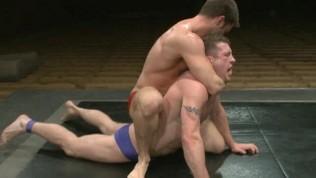 muscular men wrestling Gay