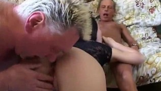 Young slut and oldman