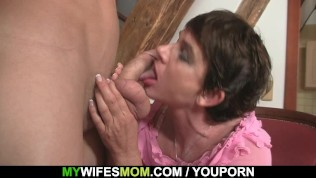 Naughty Mother In Law Jumps On His Cock