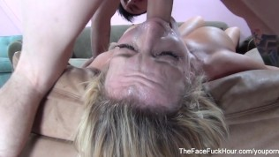 Busty Slut Gets Her Throat Fucked Hard PornZek.Com