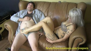 Brandnewamateurs Lucky Larry Takes Ruby Octroi's Footjob Virginity PornZek.Com
