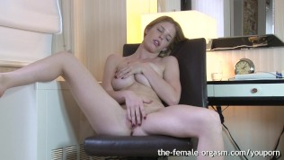 Hairy Porn Orgasm - Hot Natural Hairy Redhead Masturbates Solo to Multiple Orgasms