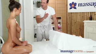 Massage Rooms Petite Tanned Russian Has Her Tiny Hole Filled With Cock PornZek.Com