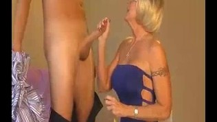 Granny Accidentally Touches Young Guy's Cock