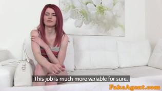 Fakeagent Hot Slim Redhead Model Gets Agent Spunk On Her Ass PornZek.Com