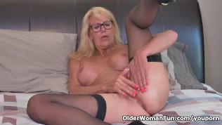 Blonde Milf Bianca Finger Fucks Her Mature Pussy PornZek.Com