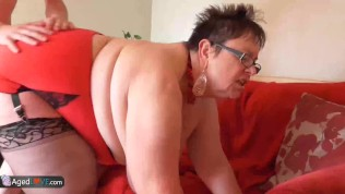 all bbw granny - Gardener Sam Bourne fucks old bbw granny