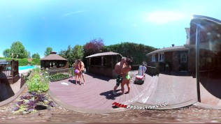 3-way Porn-Vr Group Orgy By The Pool In Public 360 PornZek.Com