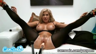 big tit latina mom - big tit latina step mom trying to squirt while fuckbot bangs her