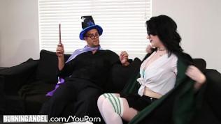 Burningangel Goth Babes Horny Potter Cosplay! PornZek.Com