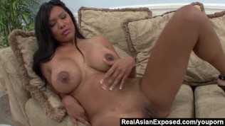 RealAsianExposed – Allanah Li fingers her pussy before fucking