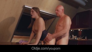 Slutty Teen Housewife Fucked Hard Swallows Old Hubby Cumshot PornZek.Com