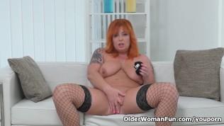 Redhead Milf Alex Strips Off And Fingers Her Mature Pussy PornZek.Com