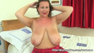 Busty And British Milf Eva Jayne Stuffs Her Fuckable Cunt PornZek.Com